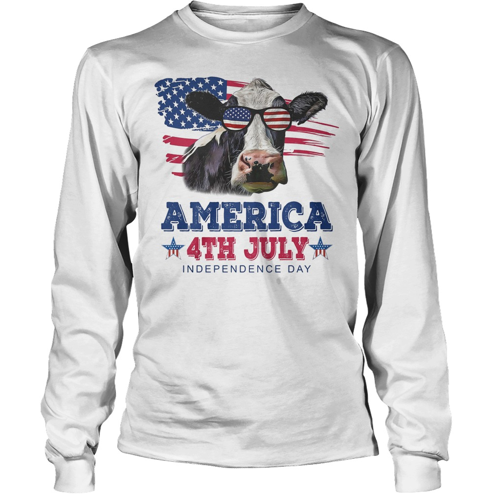 Cow America 4th July Independence Day Longsleeve