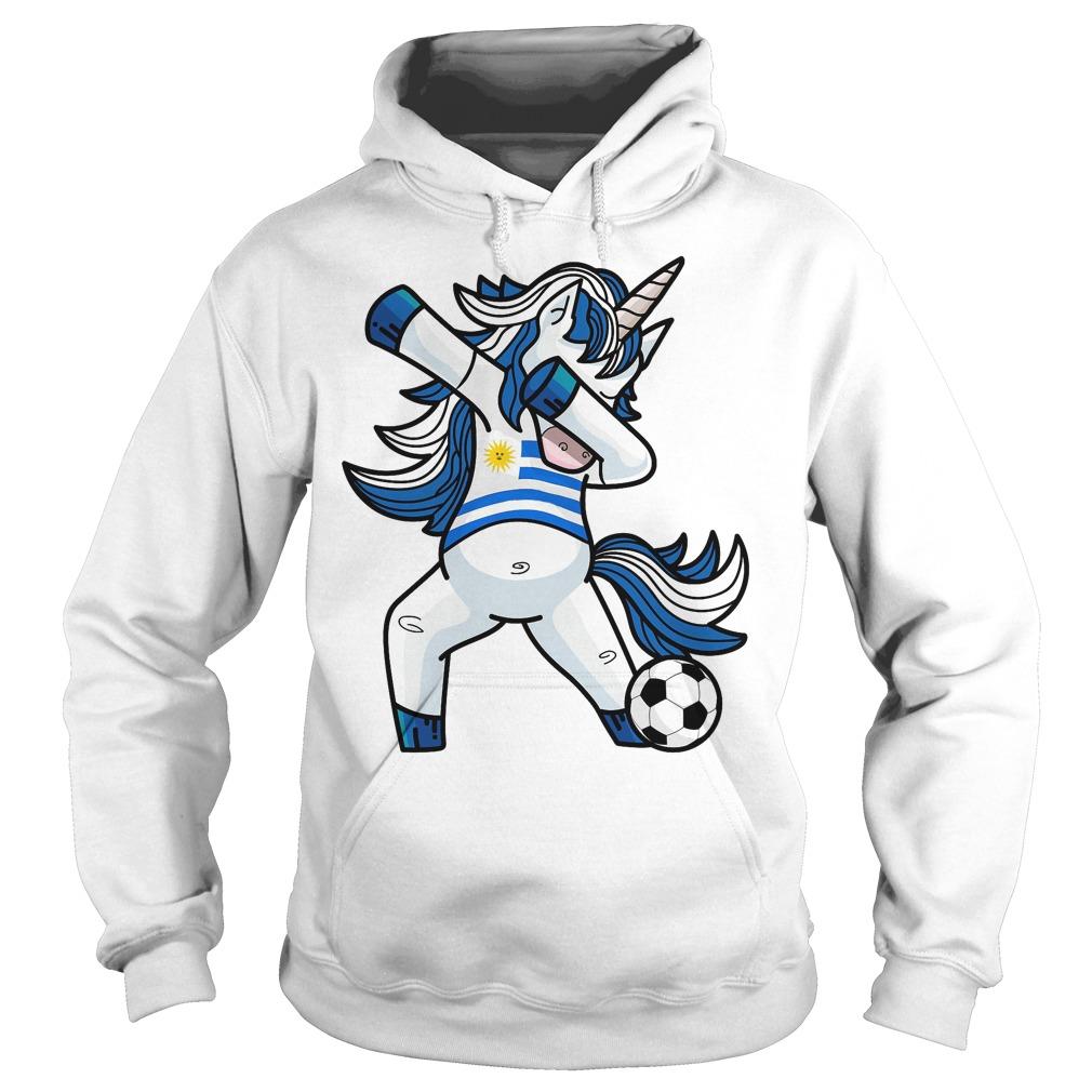 Dabbing Soccer Unicorn Uruguay Hoodie