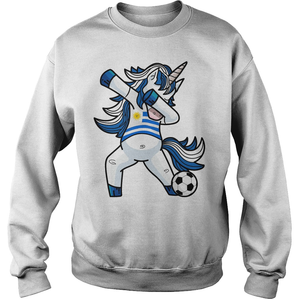 Dabbing Soccer Unicorn Uruguay Sweater