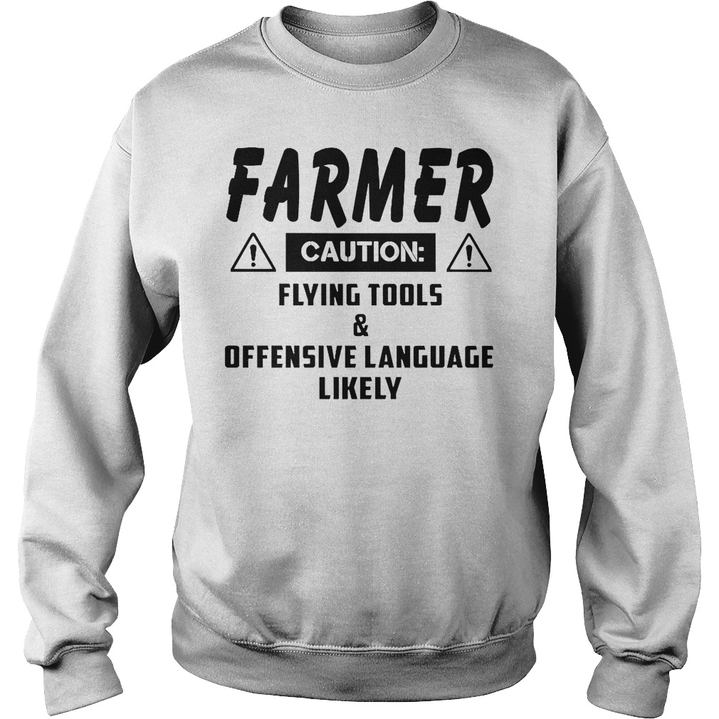 Farmer Caution Flying Tools Sweater