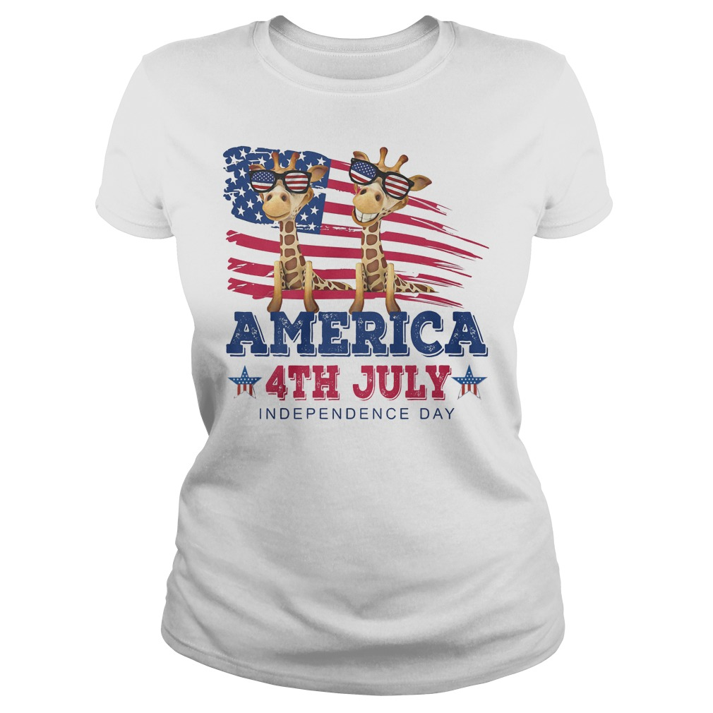 Giraffes America 4th July Independence Day Ladies