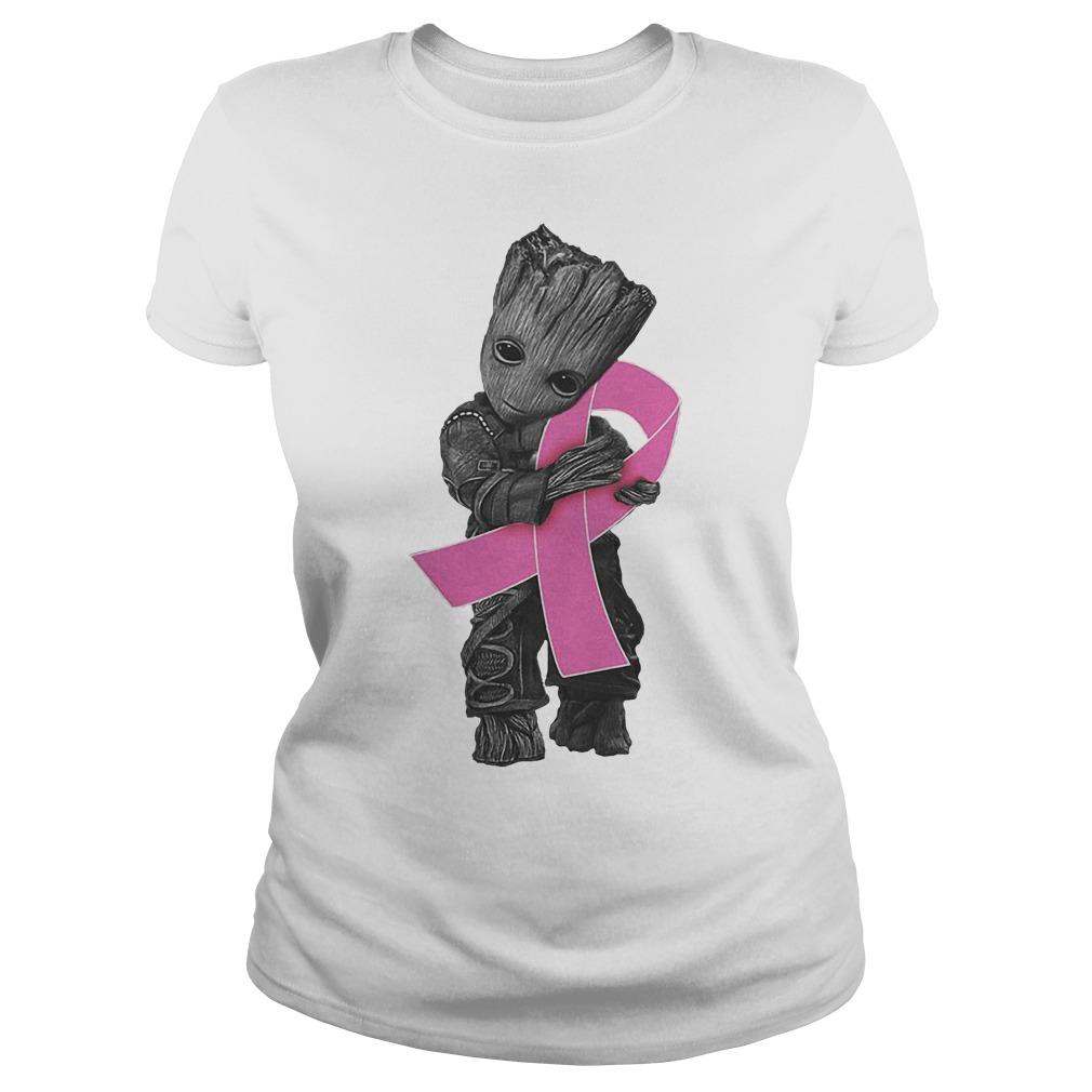 Groot Hug Breast Cancer Ribbon Ladies