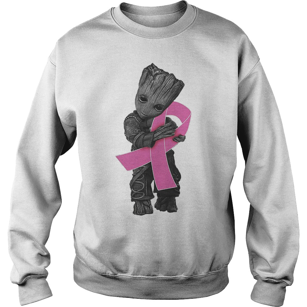 Groot Hug Breast Cancer Ribbon Sweater