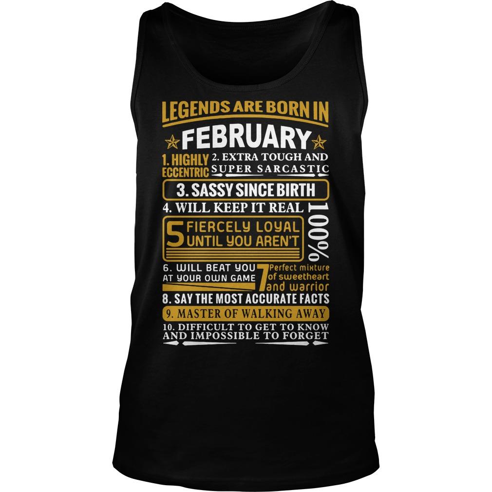Legends Are Born In February Tanktop