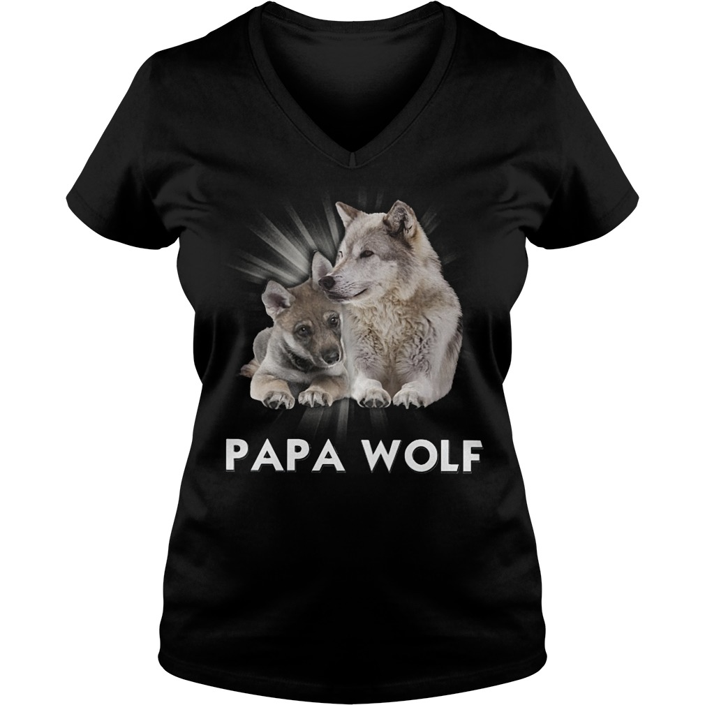 Official Papa Wolf V Neck