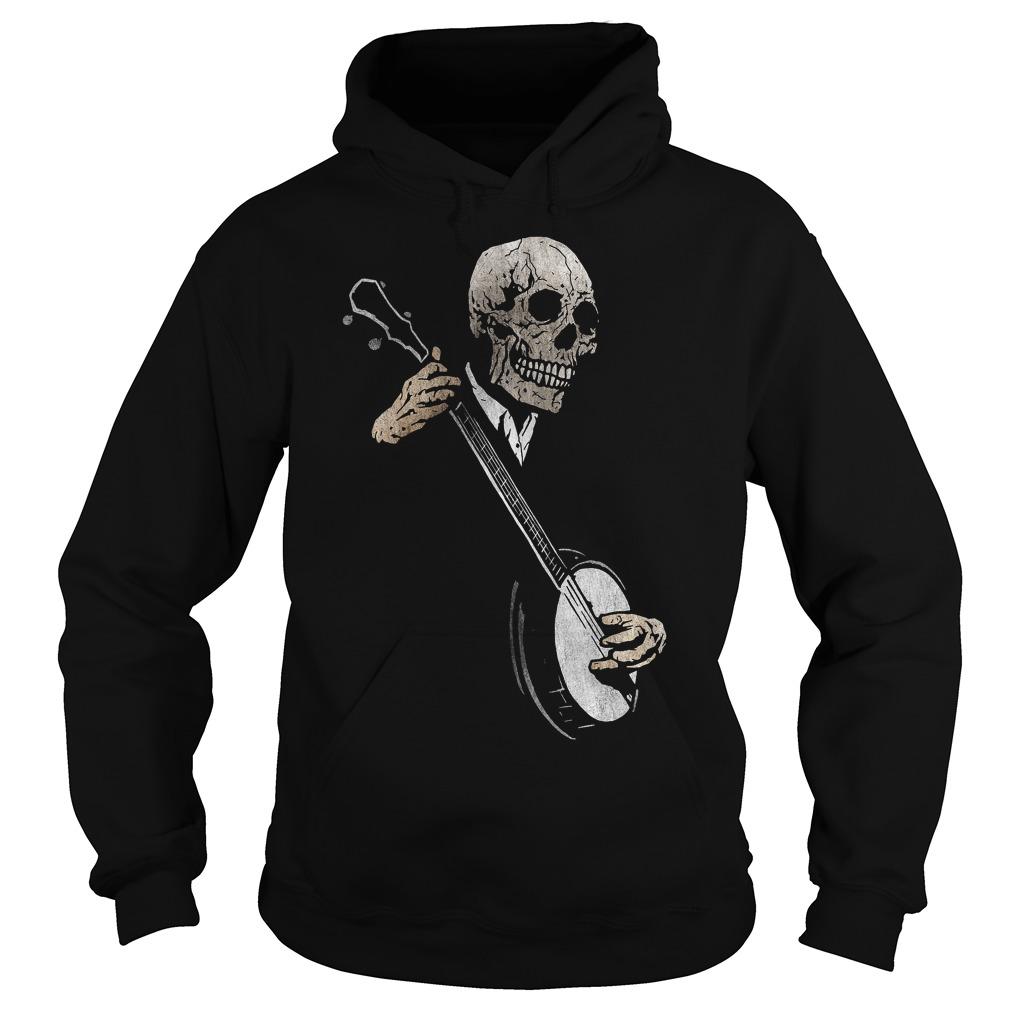 Skullboy's Banjo Blues Plays Music Hoodie