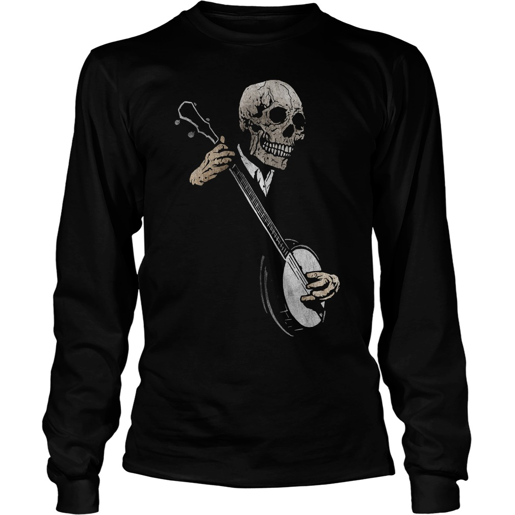Skullboy's Banjo Blues Plays Music Longsleeve