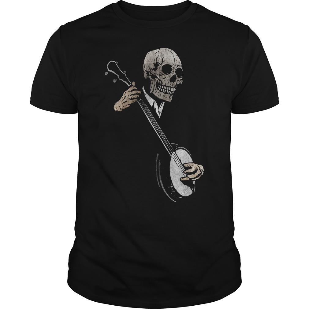 Skullboy's Banjo Blues Plays Music T Shirt