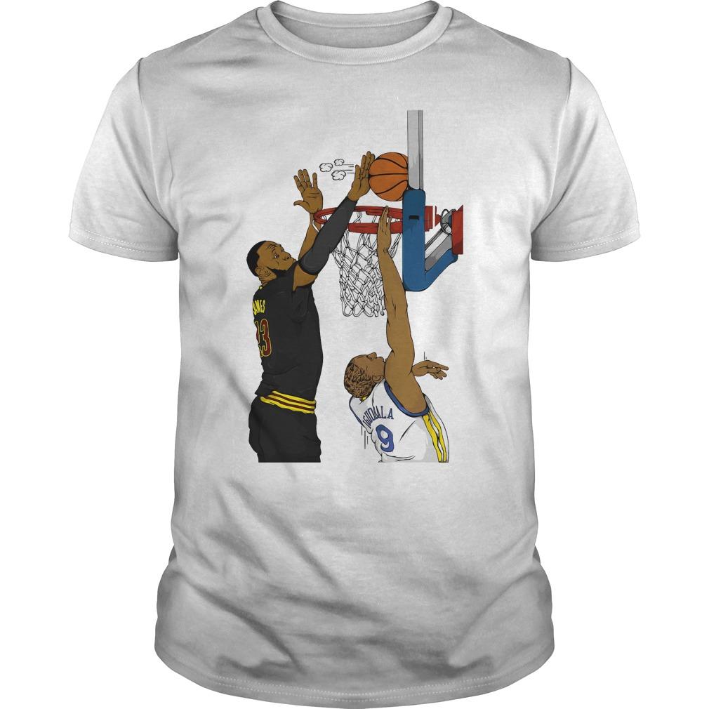 The Block Andre Iguodala And Lebron James Shirt