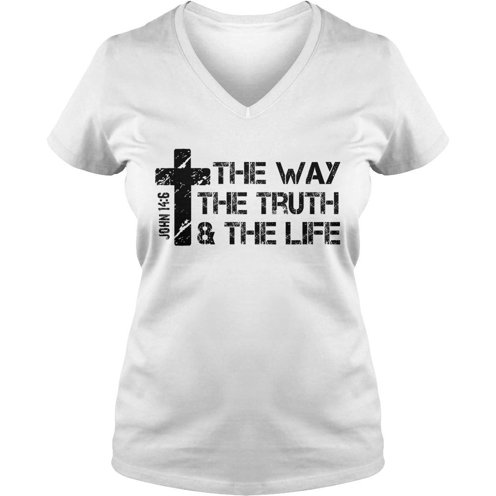 The Way Truth Lifejohn 14 6 Bible V Neck