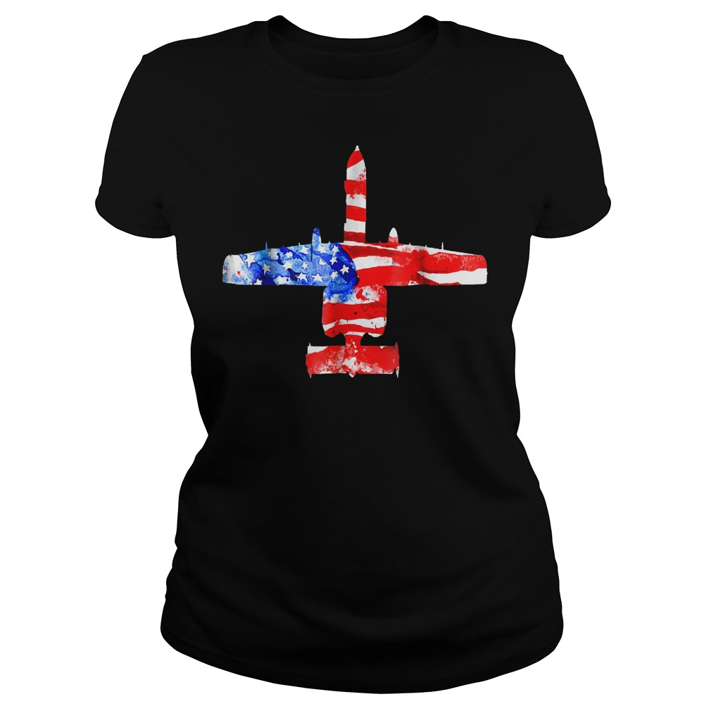 United States A 10 Thunderbolt Ii Flag Ladies