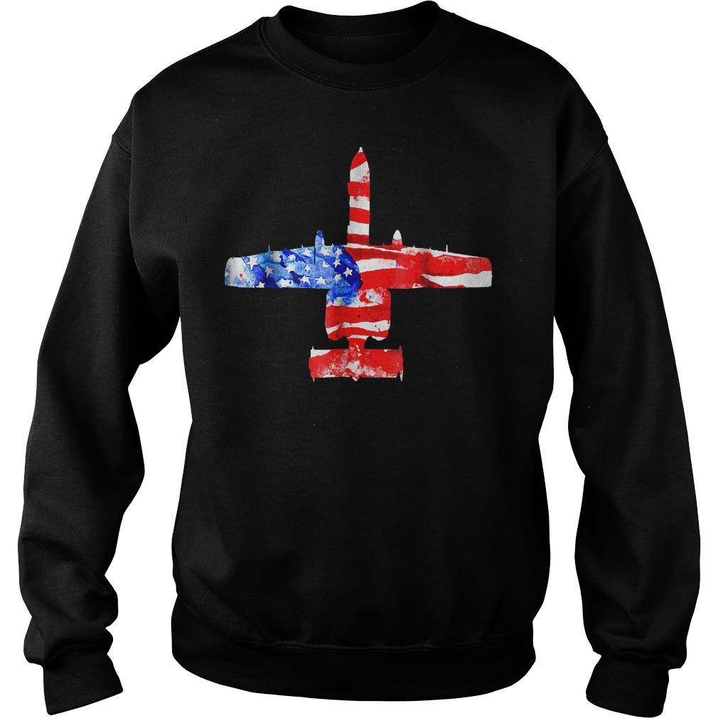 United States A 10 Thunderbolt Ii Flag Sweater