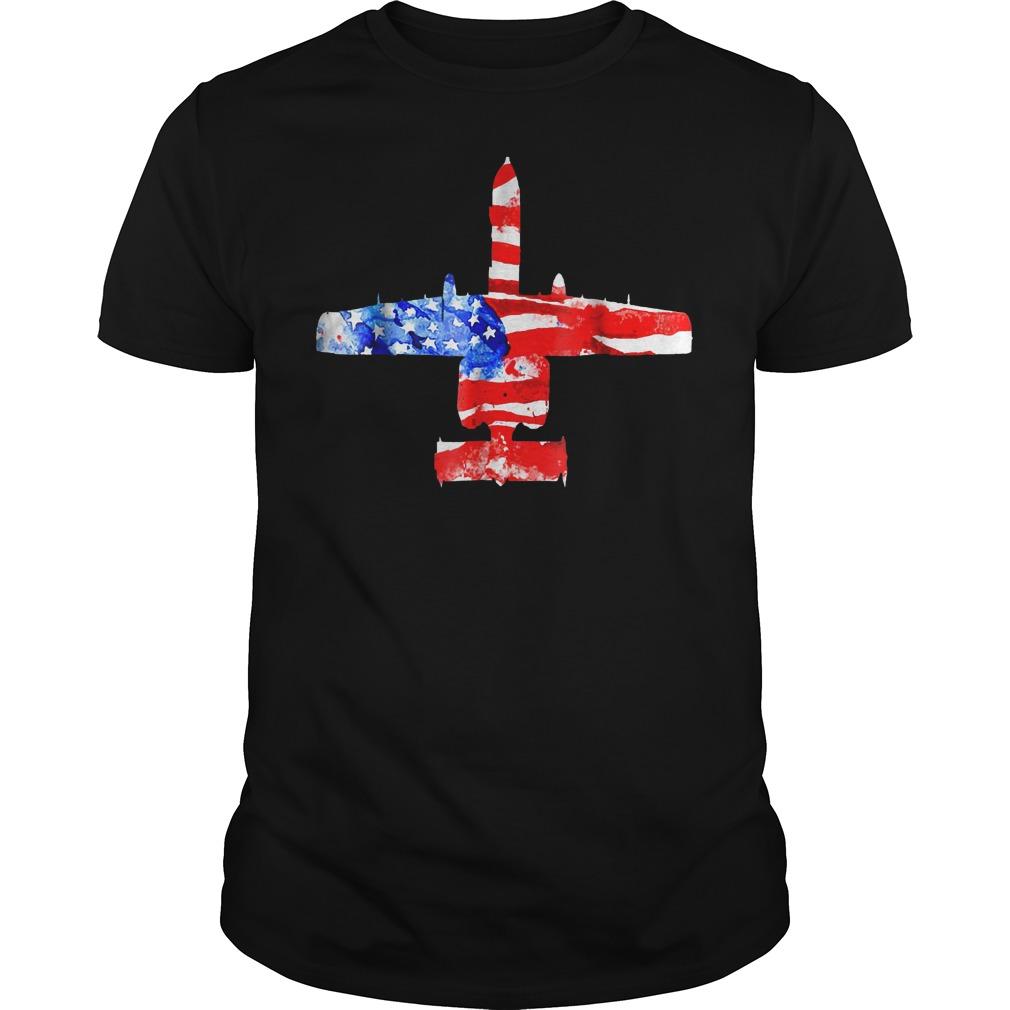United States A 10 Thunderbolt Ii Flag T Shirt