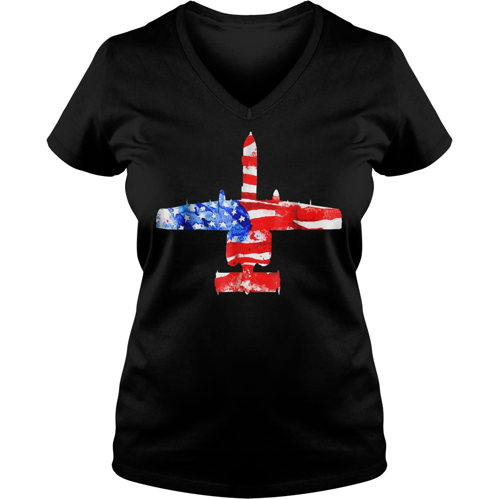 United States A 10 Thunderbolt Ii Flag V Neck