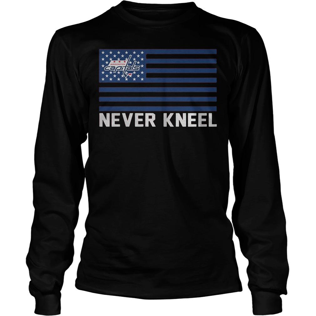 Washington Capitals Never Kneel Longsleeve