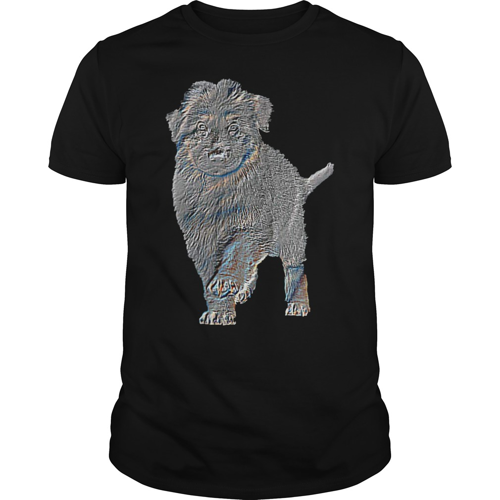 Wuff Star Long Haired German Shepherd Puppy T Shirt