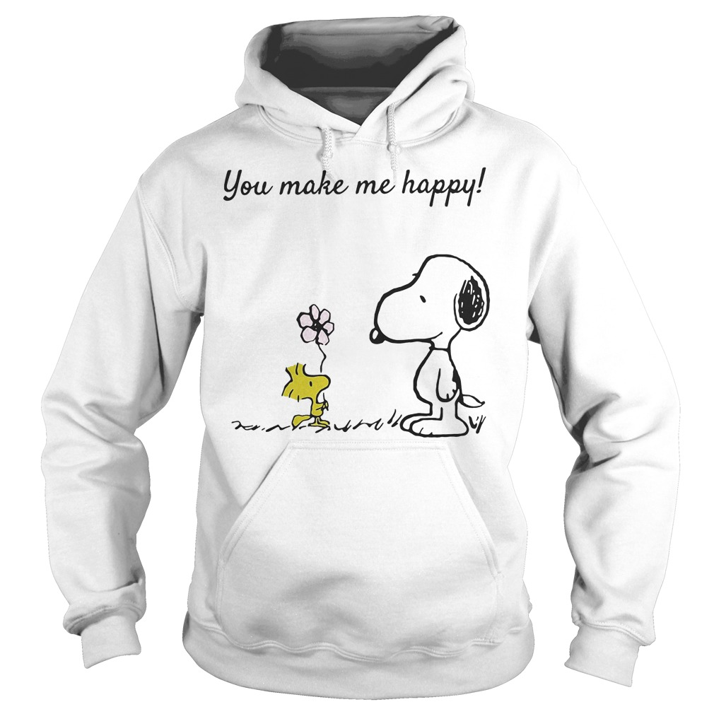 You Make Me Happy Snoopy And Woodstock Hoodie
