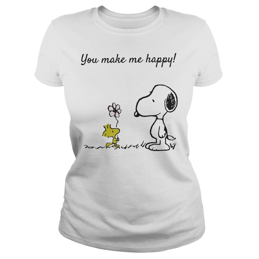 You Make Me Happy Snoopy And Woodstock Ladies