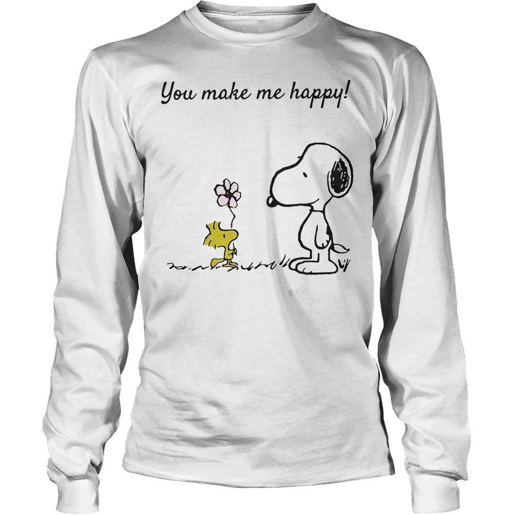 You Make Me Happy Snoopy And Woodstock Longsleeve