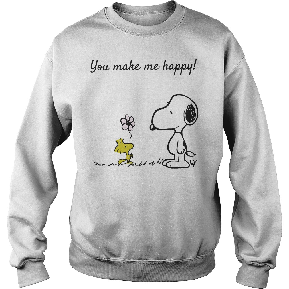 You Make Me Happy Snoopy And Woodstock Sweater