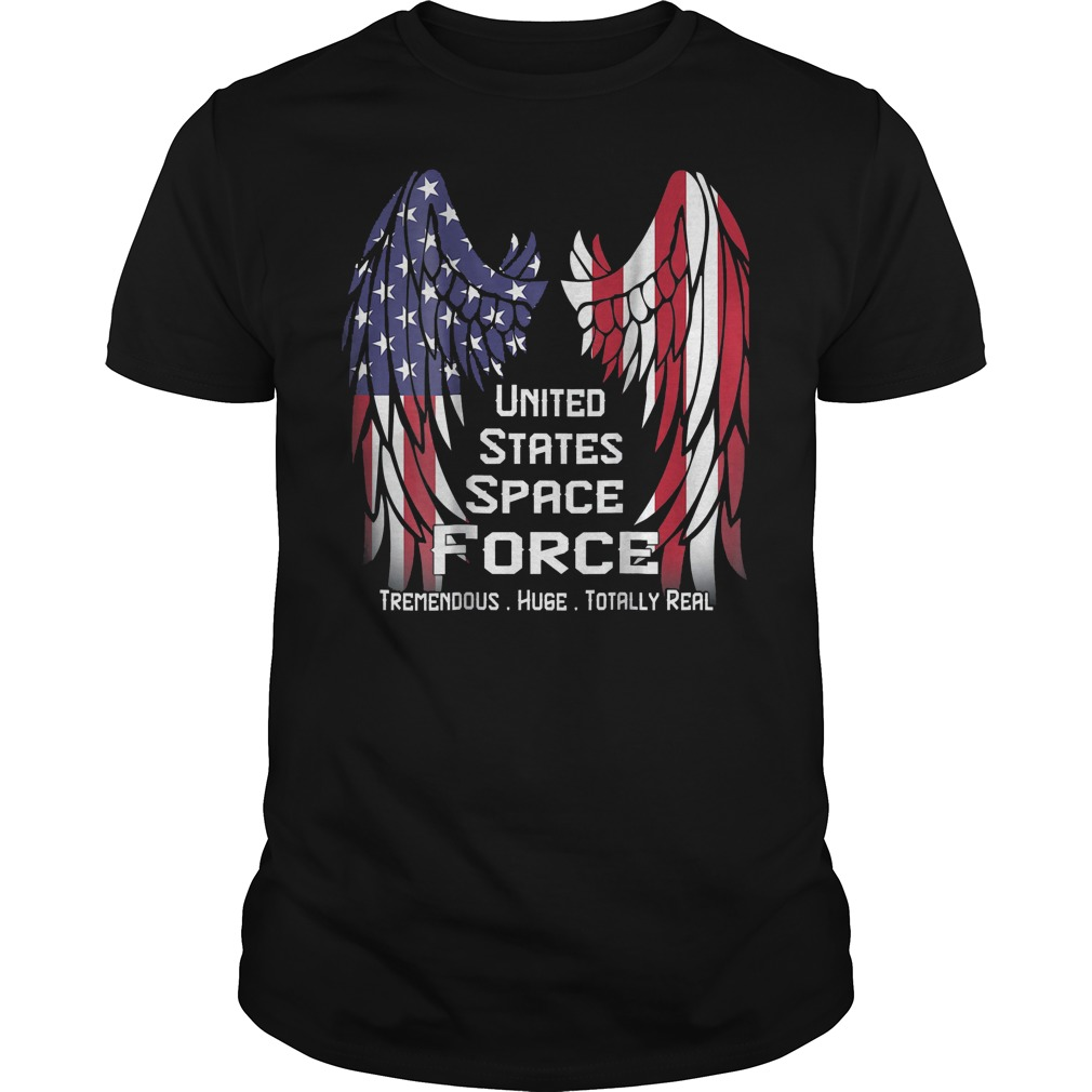 America Swings Flag United States Space Force T-Shirt Guys Tee