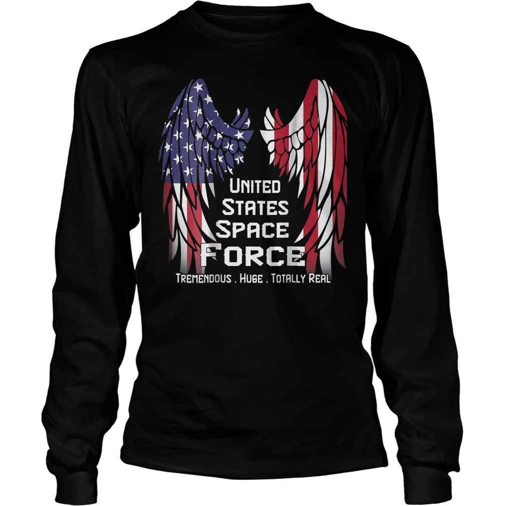 America Swings Flag United States Space Force T-Shirt Unisex Longsleeve Tee