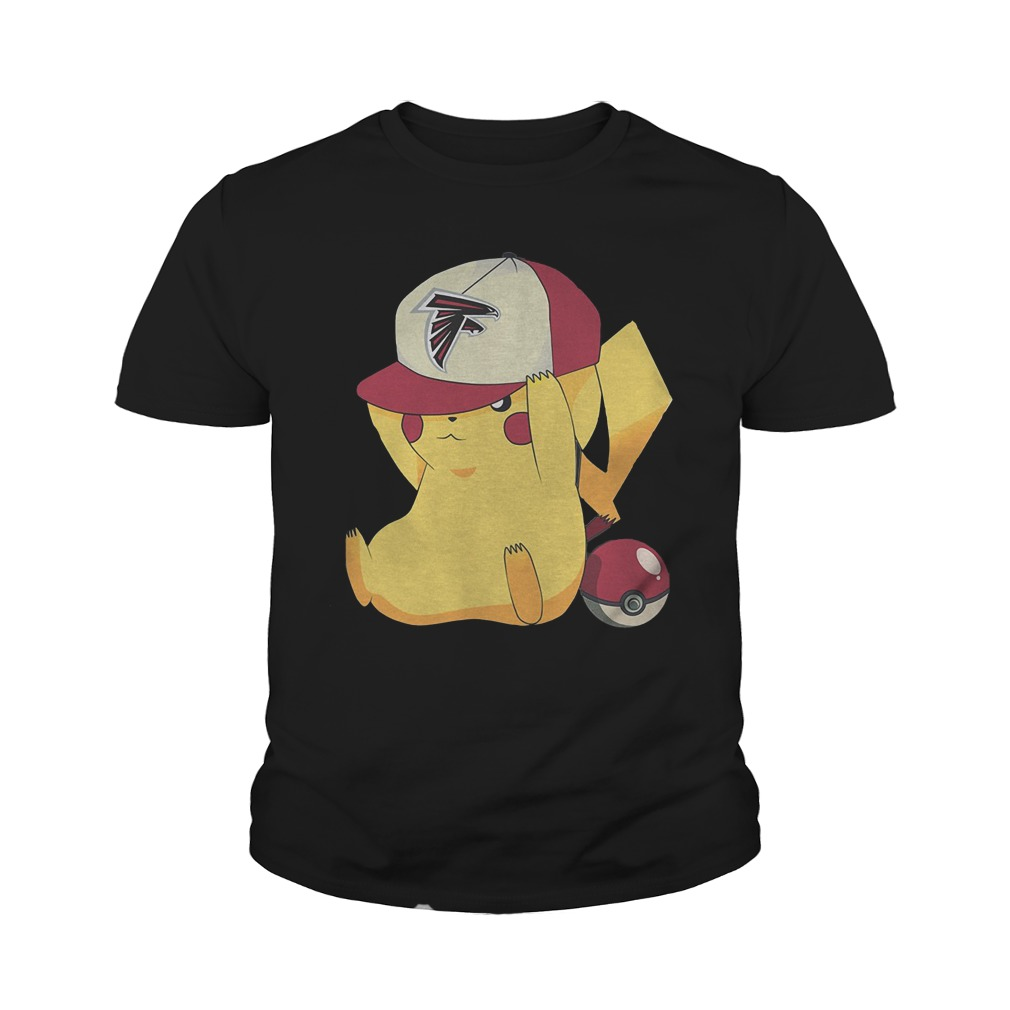 Atlanta Falcons Pikachu Pokemon T-Shirt Youth Tee