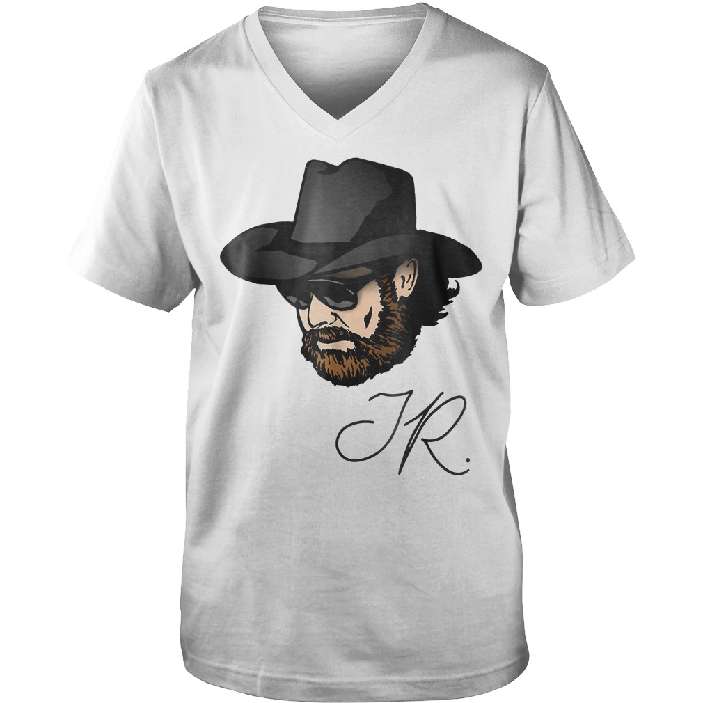 Awesome Hank Jr. Country Music T-Shirt Guys V-Neck