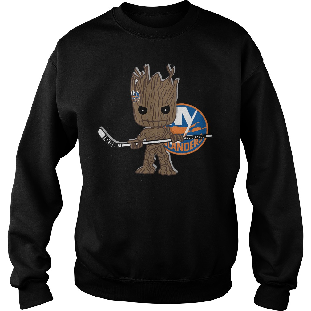 Baby Groot I Am Ice Hockey Player Team New York Islanders T-Shirt Sweat Shirt