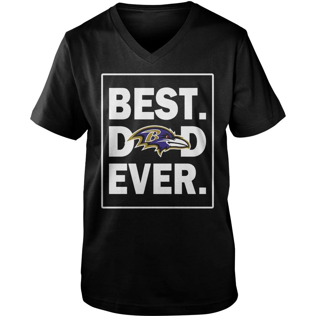 Baltimore Ravens Best Dad Ever T-Shirt Guys V-Neck