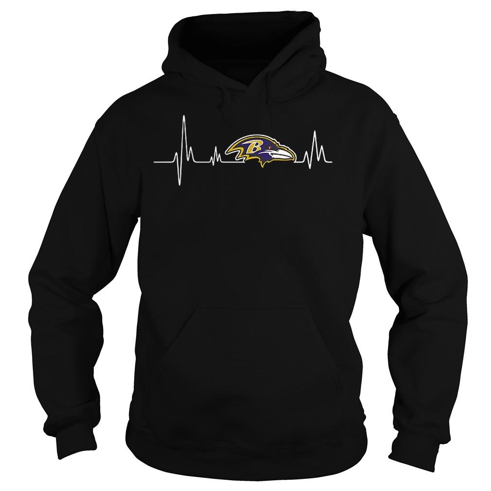 Baltimore Ravens Heartbeat T-Shirt Hoodie