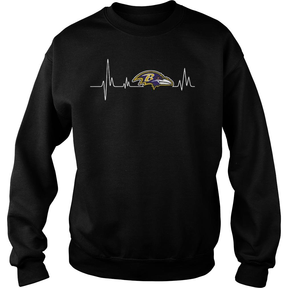 Baltimore Ravens Heartbeat T-Shirt Sweat Shirt