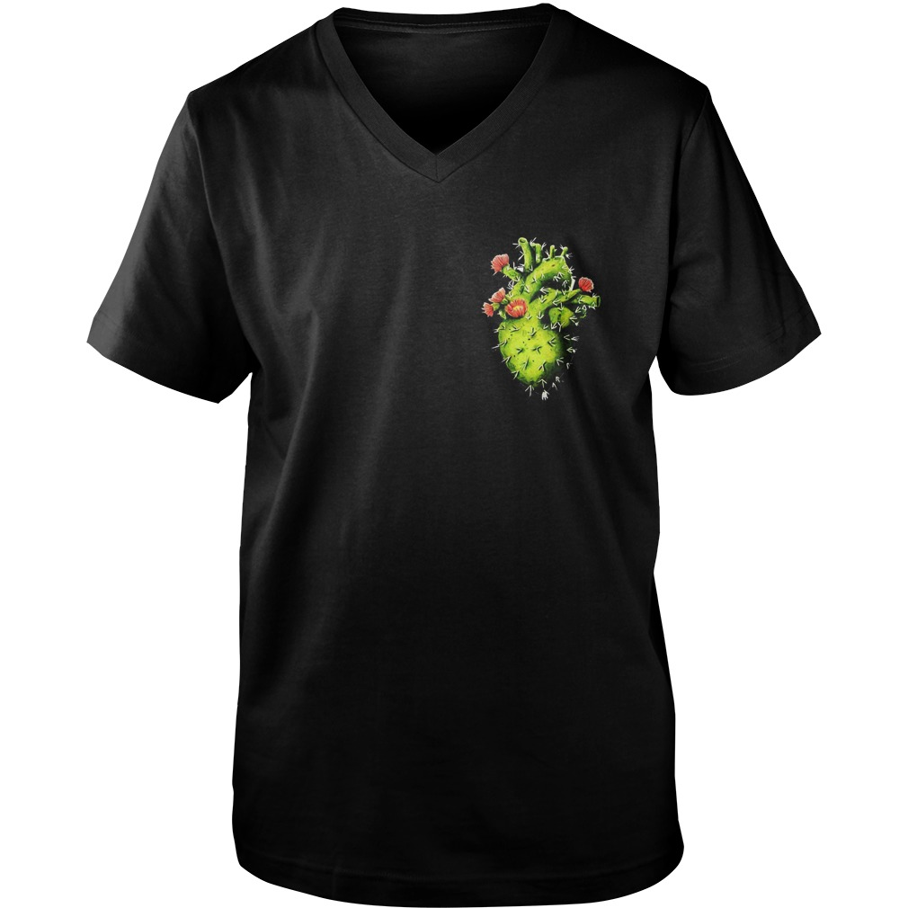 Cactus Heart T-Shirt Guys V-Neck