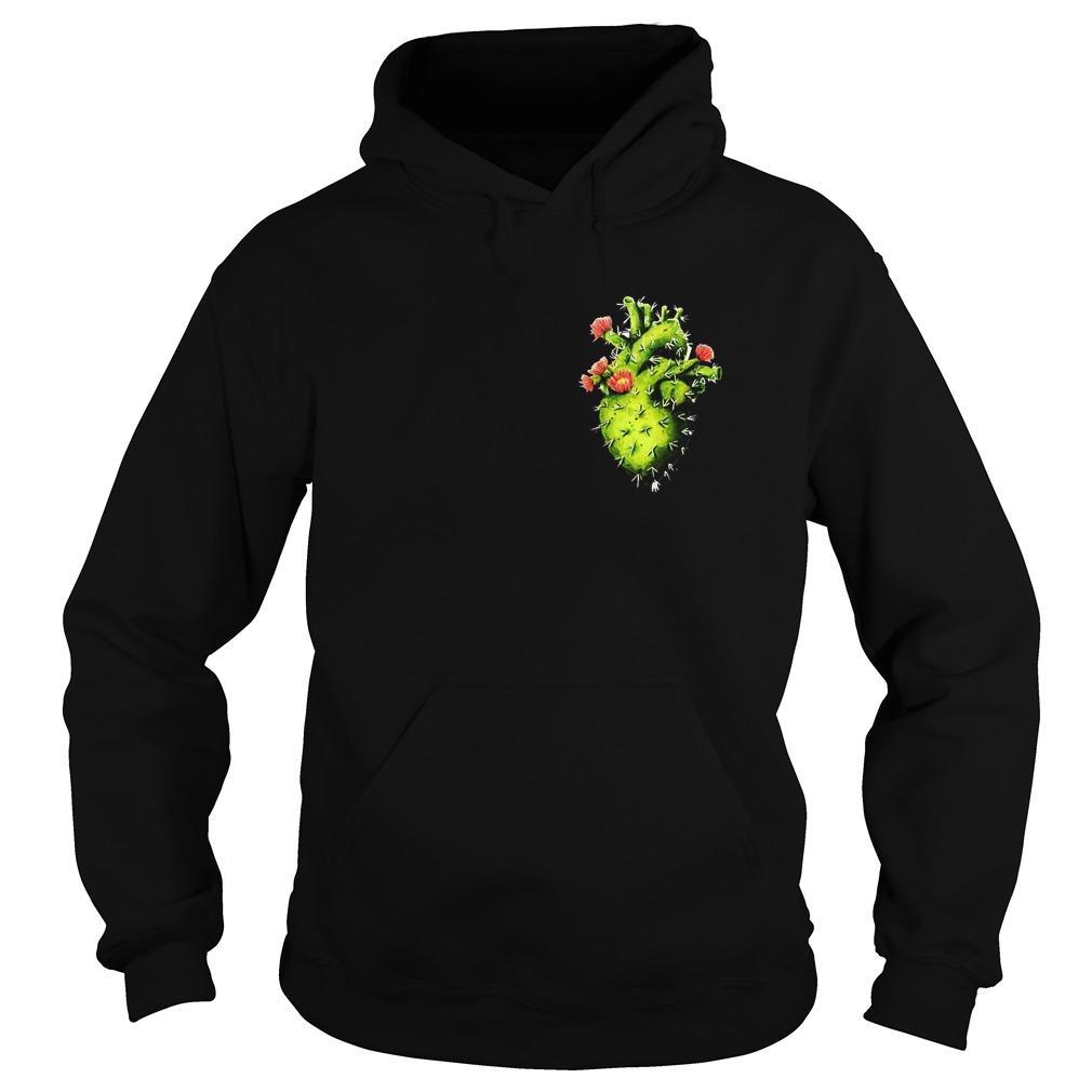Cactus Heart T-Shirt Hoodie