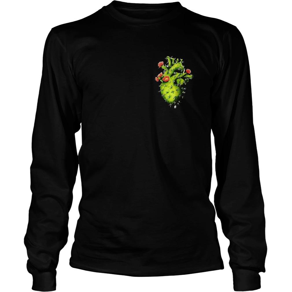 Cactus Heart T-Shirt Longsleeve Tee Unisex