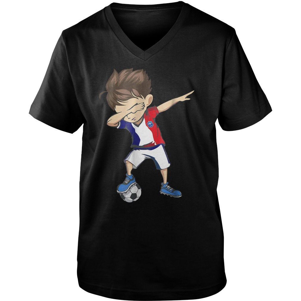 Dabbing Soccer France World Cup 2018 Guys V-Neck