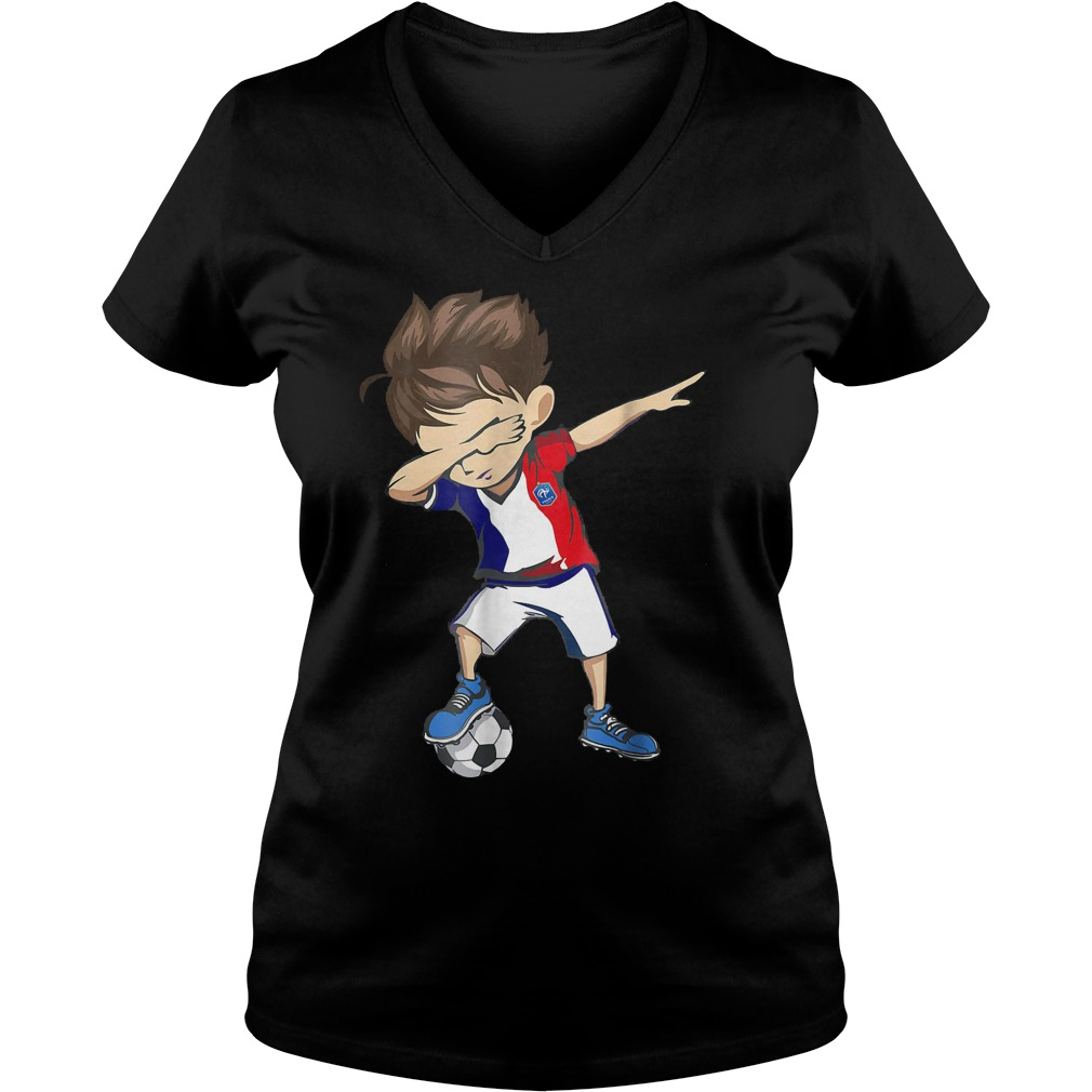 Dabbing Soccer France World Cup 2018 Ladies V-Neck