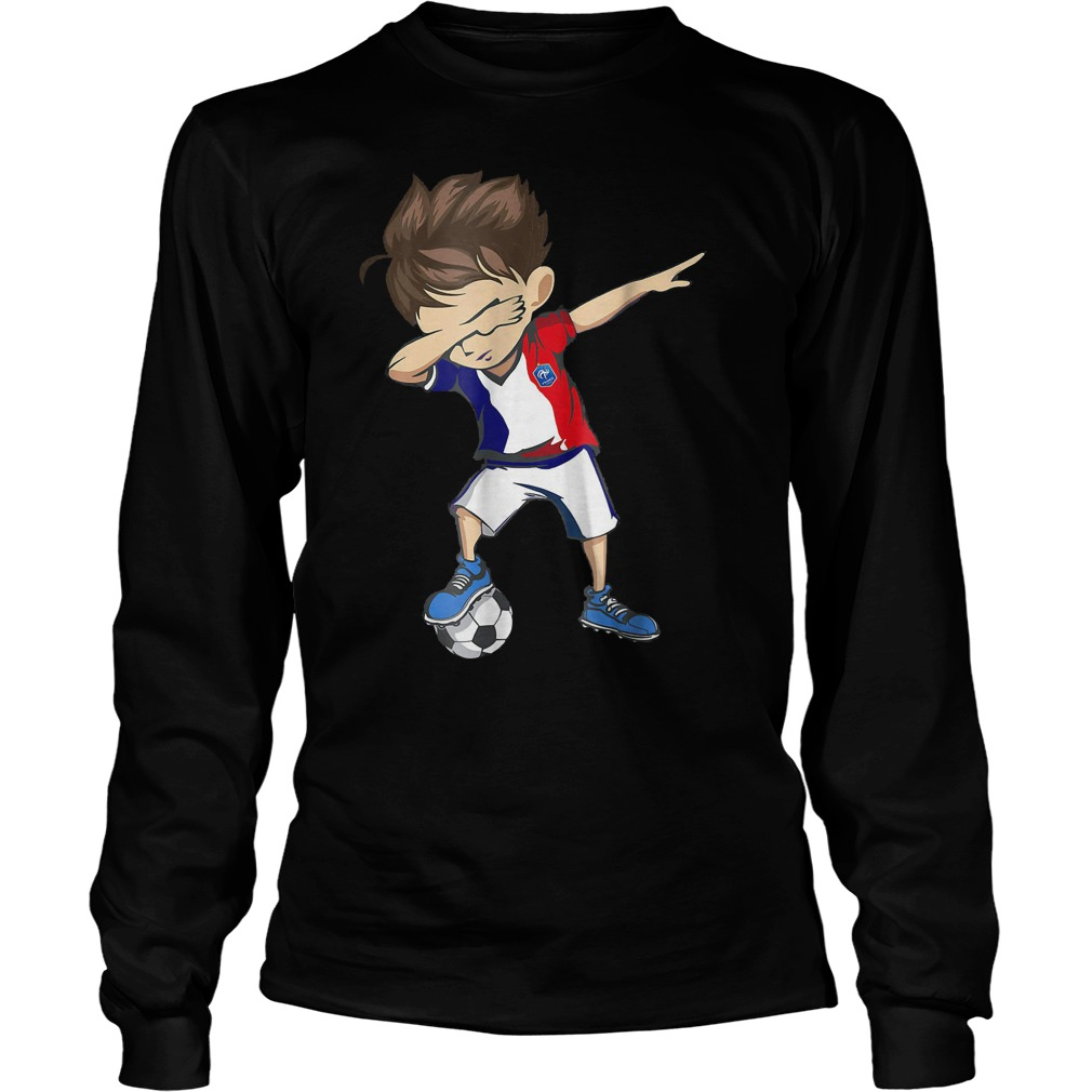 Dabbing Soccer France World Cup 2018 Unisex Longsleeve Tee