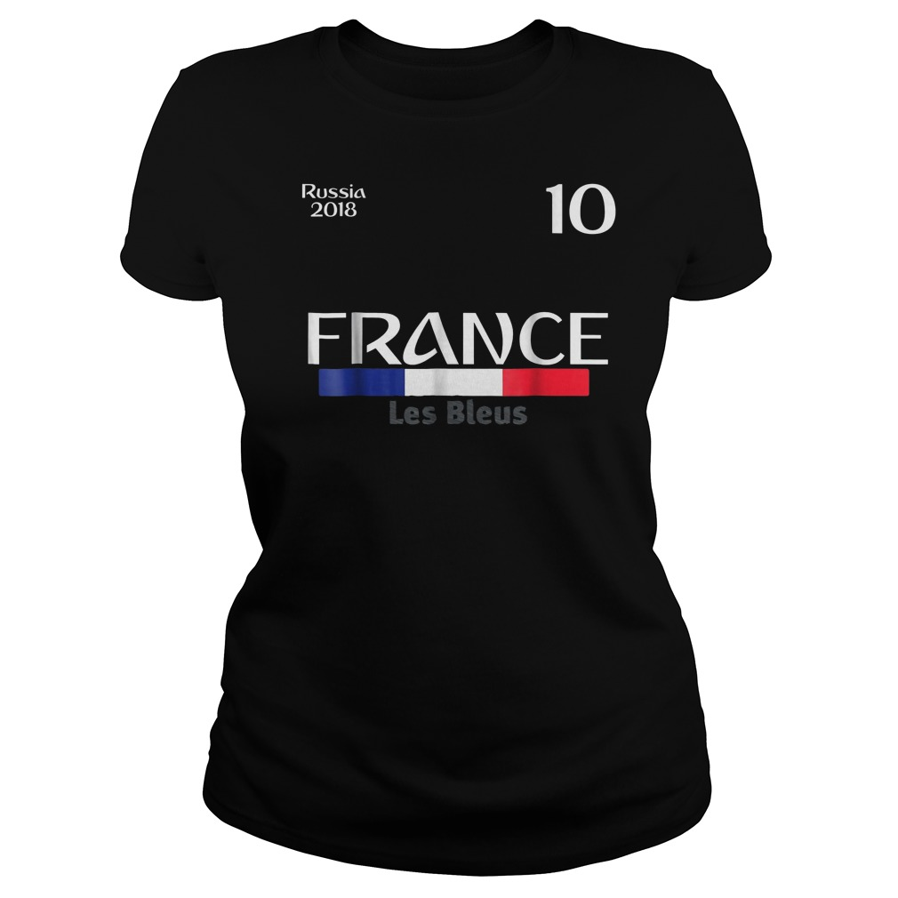 France Football Jersey World Cup 2018 Ladies Tee