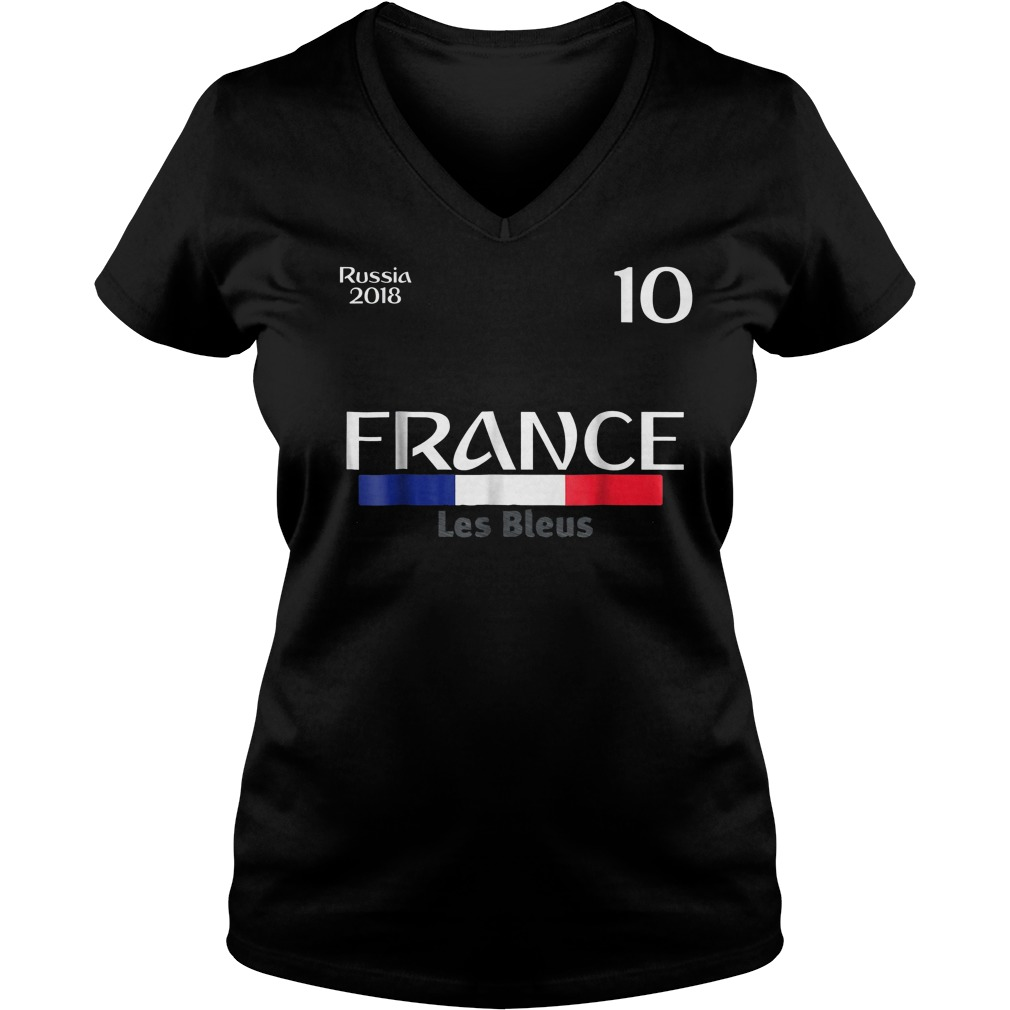 France Football Jersey World Cup 2018 Ladies V-Neck