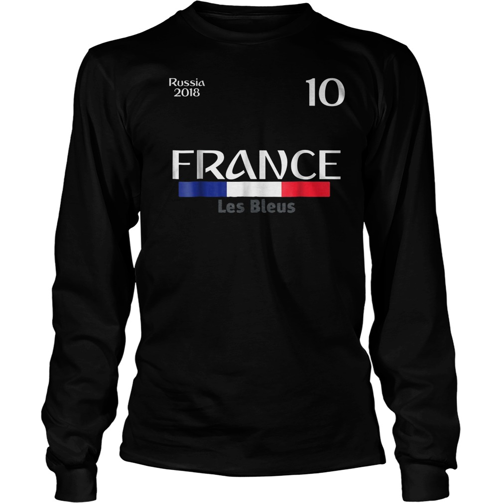 France Football Jersey World Cup 2018 Unisex Longsleeve Tee