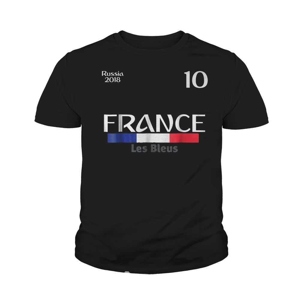 France Football Jersey World Cup 2018 Youth Tee