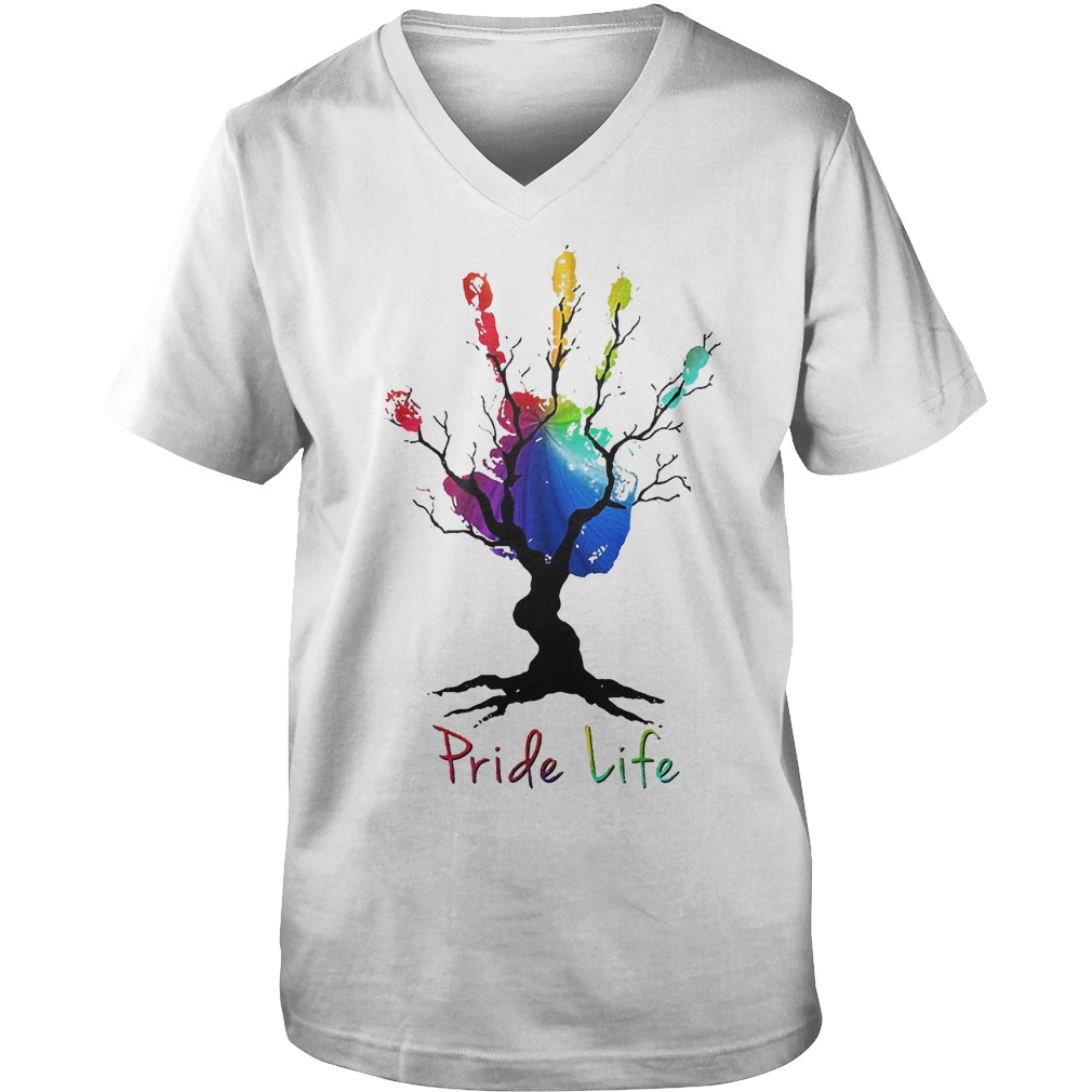 Hand Tree Pride Life T-Shirt Guys V-Neck
