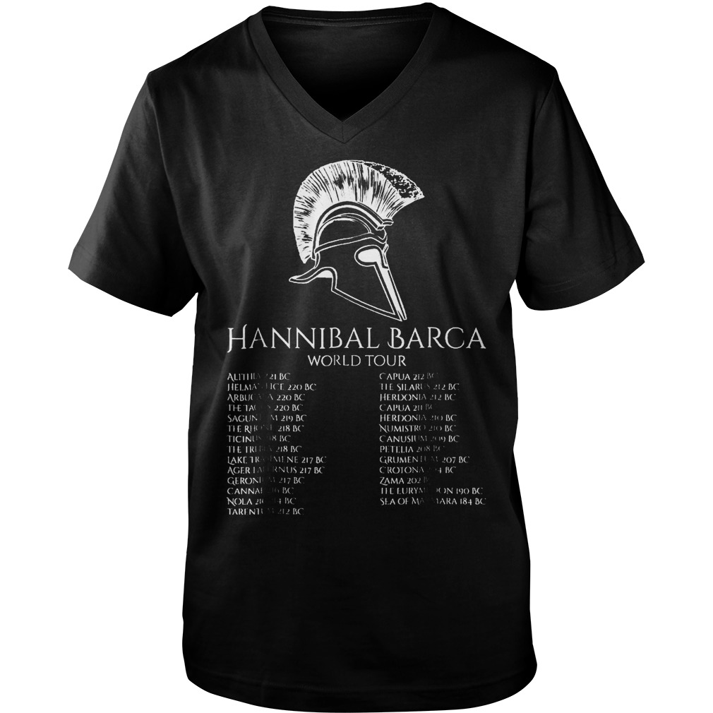 Hannibal Barca World Tour T-Shirt Guys V-Neck