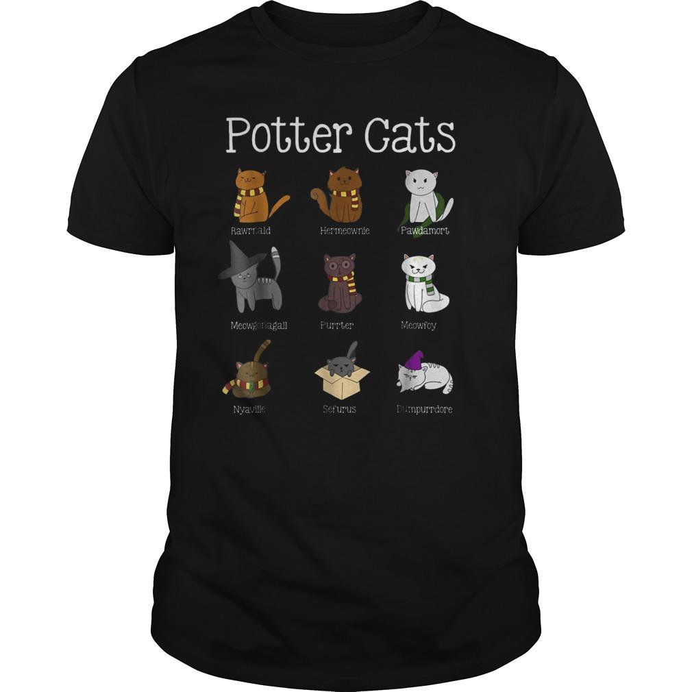 Harry Pawter Cute Kitten Potter Cats T-Shirt Classic Guys / Unisex Tee