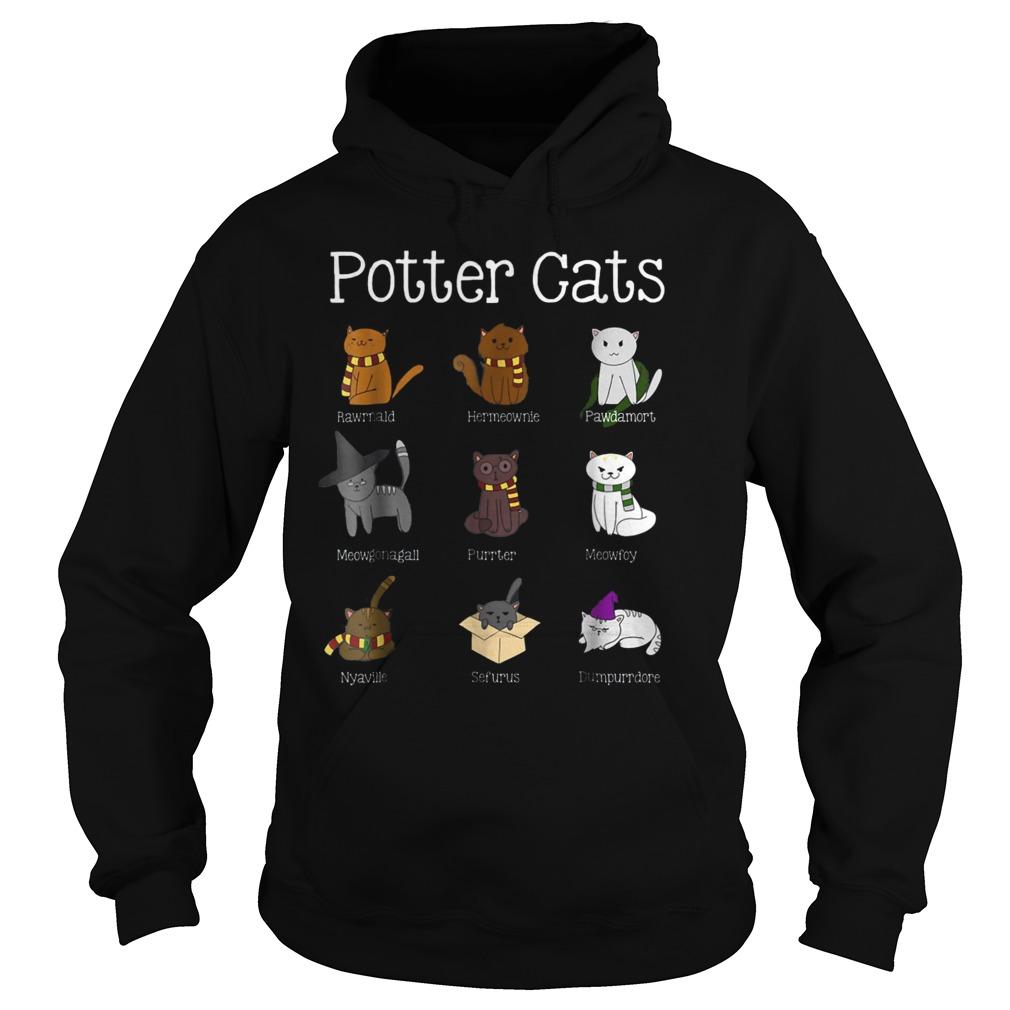 Harry Pawter Cute Kitten Potter Cats T-Shirt Hoodie