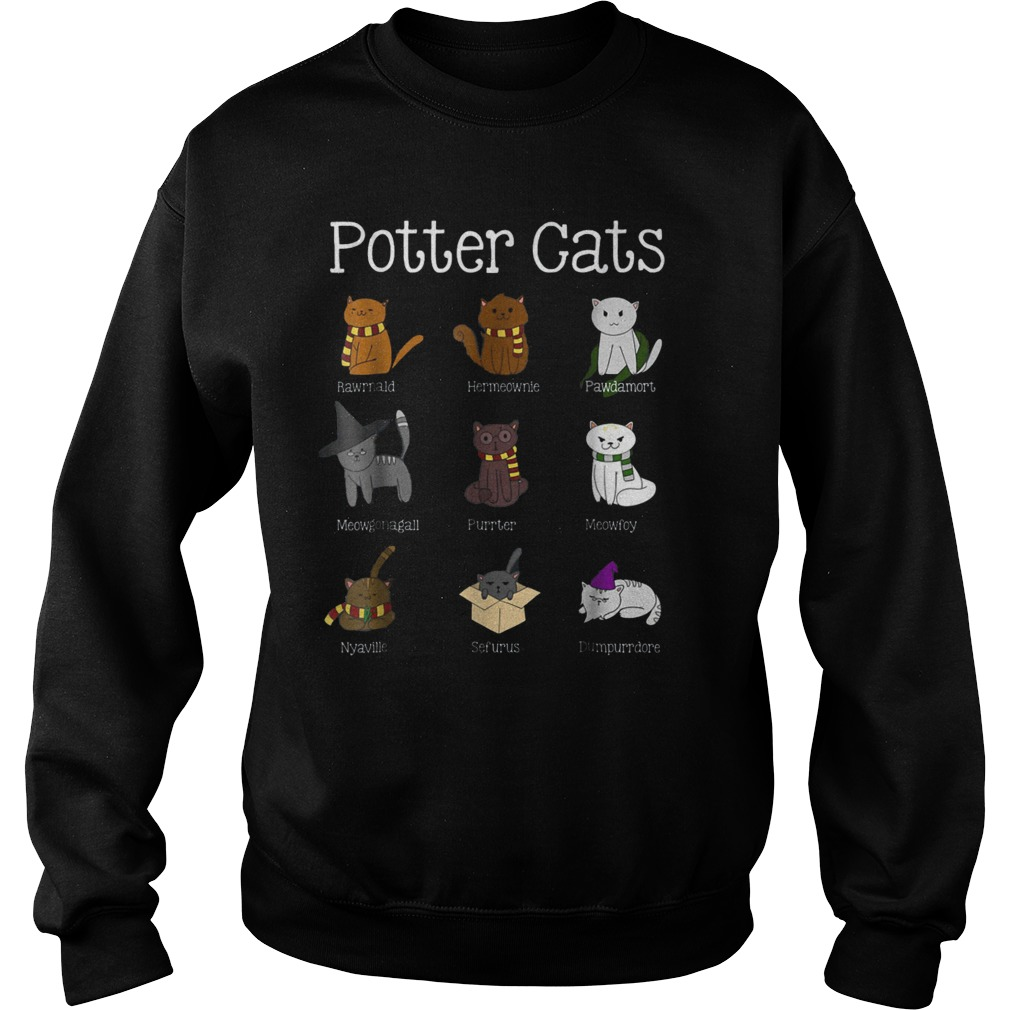 Harry Pawter Cute Kitten Potter Cats T-Shirt Sweatshirt Unisex