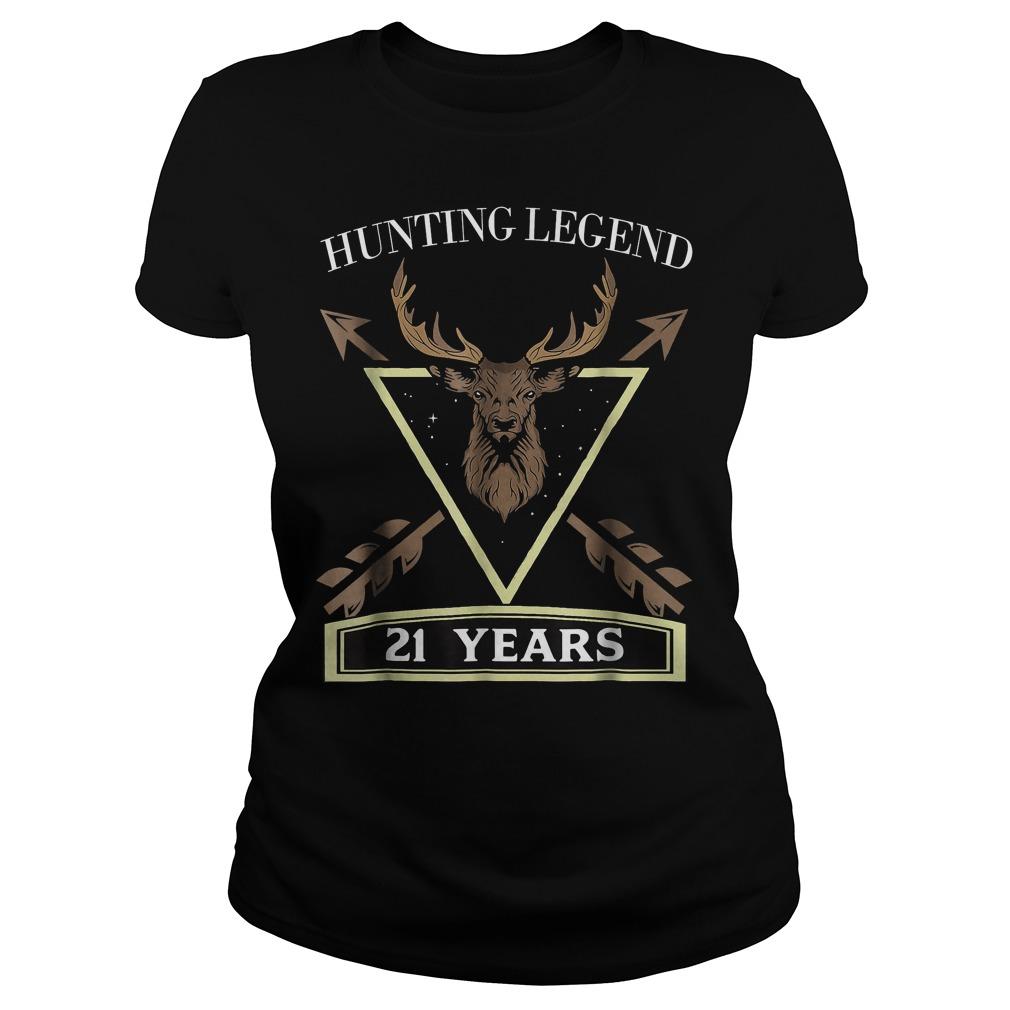 Hunting Legend 21 Years Old T-Shirt Ladies Tee