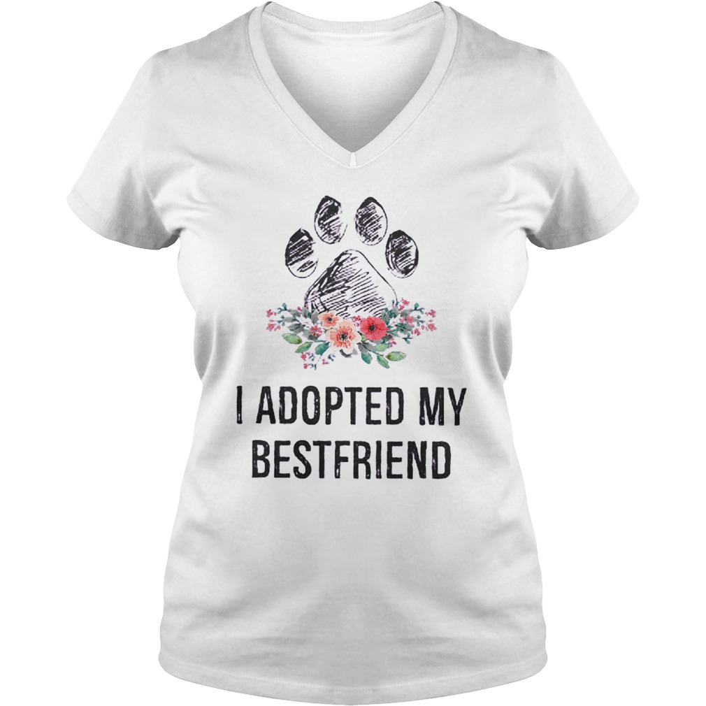 I Adopted My Bestfriend T-Shirt Ladies V-Neck