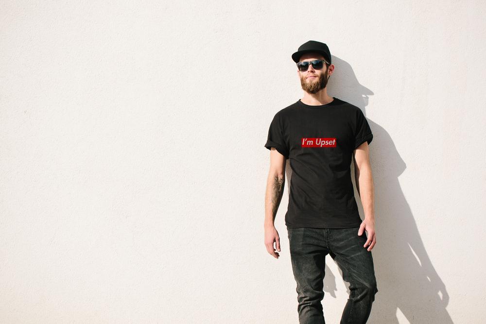 I Am Upset Box Logo T Shirt
